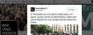 Las hostias para los papanatas de Ahora Madrid por defender al islam en plena calle sin faldas y a lo loco