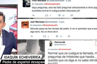 """Las redes estallan contra Javier Ruiz al que acusan de hacer un """"show amarillista"""" con el español desaparecido en Londres"""