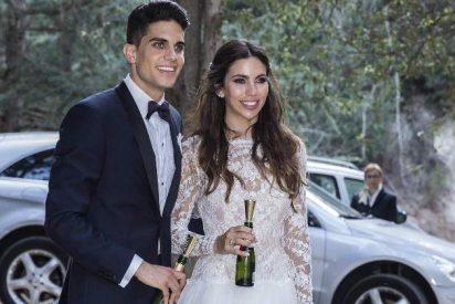 Así fue la romántica boda de Melissa Jiménez y Marc Bartra