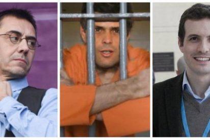 El insultante tuit de Monedero contra Leopoldo López y Pablo Casado