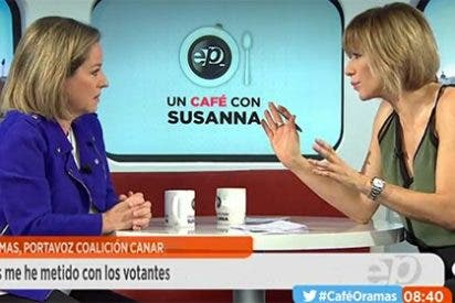 Ana Oramas vuelve a aplastar en un pis pas a los bolivarianos de Podemos con un mensaje demoledor