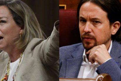 """Oramas denuncia el acoso """"de miles de trolls podemitas"""" en las redes sociales tras pintarle la cara a Pablo Iglesias en el Congreso"""