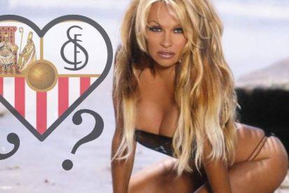 Pamela Anderson, 'pillada' con un futbolista del Sevilla