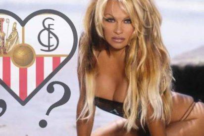Pillan a Pamela Anderson con un futbolista del Sevilla