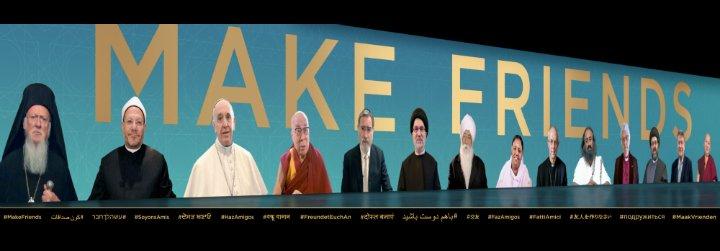 """El Papa se une a otros líderes religiosos para llamar al mundo a rebajar las tensiones y """"hacer amigos"""""""