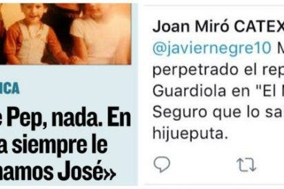Los digitales separatistas salen de cacería por la entrevista al padre de Guardiola y acaban con un tiro en el pie