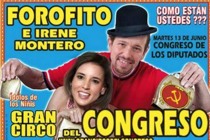 Dosis de cachondeo y mofas con el circo podemita que Irene y Pablo han montado con la moción a Rajoy