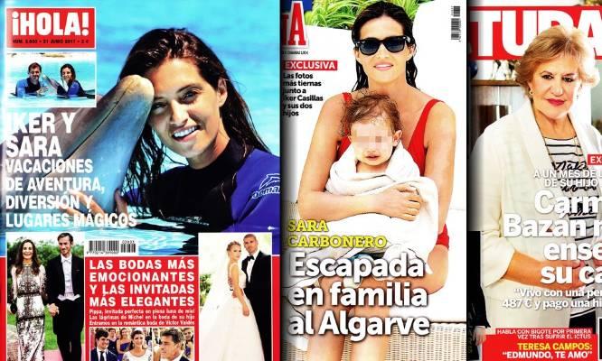 Prensa del Corazón: Iker y Sara, protagonistas de dos portadas