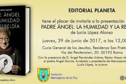 Se presenta en Roma el libro 'Padre Ángel. La humildad y la rebeldía'