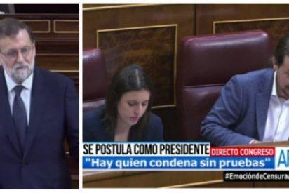 """Rajoy manda a la lona a Iglesias en el turno de réplica: """"No es buena idea que usted gobierne, no le veo merecedor de ese honor y a España de ese castigo"""""""