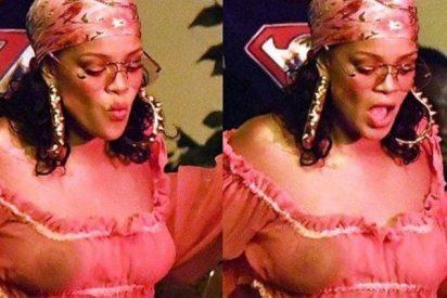 Rihanna se olvidó del sostén y enseñó 'pechuga' a toda la concurrencia