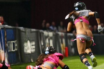 [VÍDEO] La erótica celebración de una jugadora en la liga femenina de fútbol americano