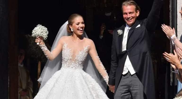 800.000€ ha costado el vestido de novia de Victoria Swarovski