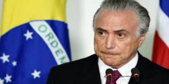"""El principal fiscal de Brasil denuncia al presidente Michel Temer por """"corrupción pasiva"""""""