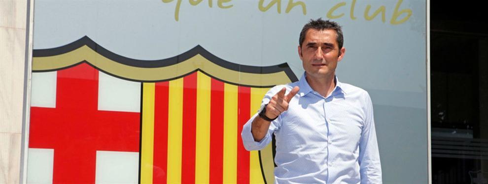 Valverde tiene una primera enganchada con una estrella del Barça
