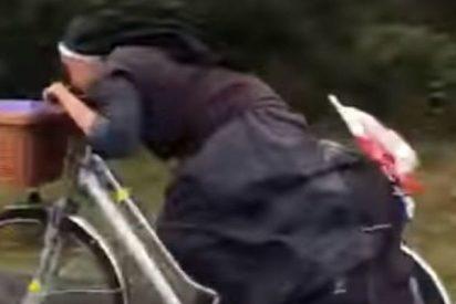 'Sor Bicicleta' bate récords de velocidad en el Camino de Santiago
