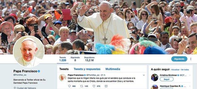 El Twitter del Papa alcanza los 35 millones de seguidores