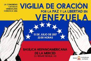 Osoro participa en una vigilia de oración por la paz en Venezuela