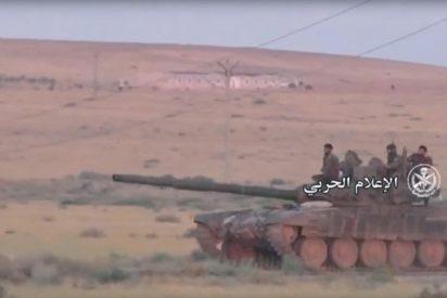 [VÍDEO] El ejército sirio rompe el frente en Hama con tanques T-90 y helicópteros rusos Mi-28N