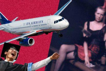 La profesora tiene sexo con su alumno en el baño del avión y acaba por los suelos