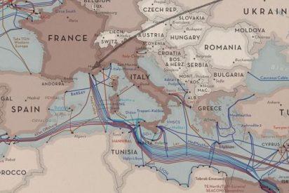 Este es el mapa donde puedes ver el recorrido oculto de los cables marinos que nos conectan a internet