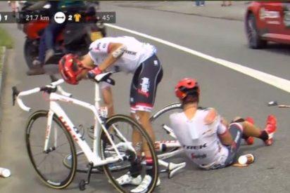 Alberto Contador vuelve a caerse en el Tour de Francia
