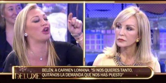¡Qué no se haga la víctima!: Ya sabemos el dineral que Belén Esteban le debe a Carmen Lomana