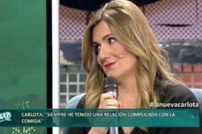 """La cansina Carlota Corredera se enfada con Cadena Dial por meterse con Bustamante: """"No está bien reírse de la gente con sobrepeso"""""""