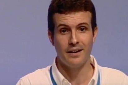 """El discurso más brutal de Pablo Casado contra Podemos: """"Un país enfermo lleva la camiseta de Chávez en vez de la de Leopoldo López"""""""