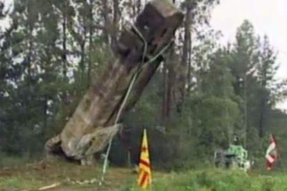 Cuatro bobos resultan heridos en Vizcaya derribando una cruz de la Guerra Civil