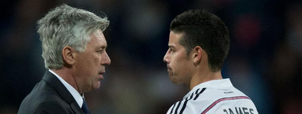El mensaje de Carlo Ancelotti que sacó a James Rodríguez del Real Madrid