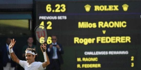 [VÍDEO] La magia de Roger Federer ante Milos Raonic en Wimbledon