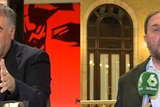 Ferreras deja en evidencia las urnas ilegales de Junqueras y el independentista se revuelve acusándole de... ¡seguir las consignas del PP!