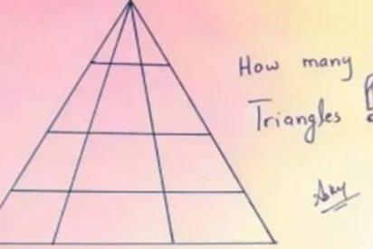 ¿Cuántos triángulos ves aquí?