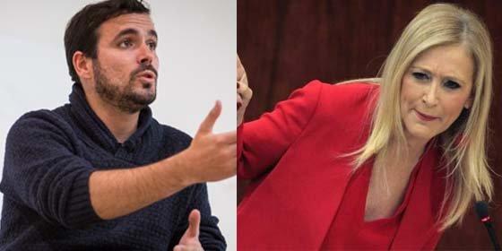 """Cifuentes se enfrenta al matón de Alberto Garzón que le afeó no cogerse vacaciones: """"Este es el mismo que llama golpista a Leopoldo López"""""""