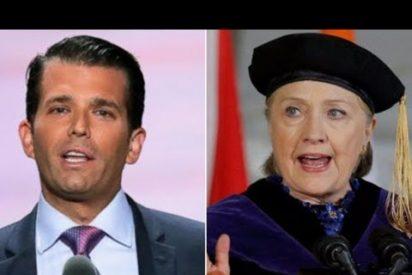"""Donald Trump Jr. está encantado con la oferta de información """"sensible"""" sobre Hillary Clinton"""