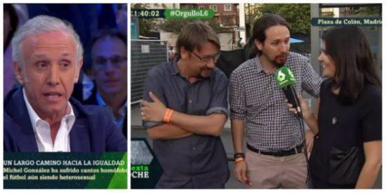 """'Zasca' de Inda a Pablo Iglesias por acudir al orgullo gay: """"Es una golfería moral porque él cobra de Irán, un régimen que cuelga a los homosexuales"""""""