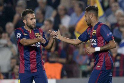 [VÍDEO] Jordi Alba acaricia el culo a Neymar