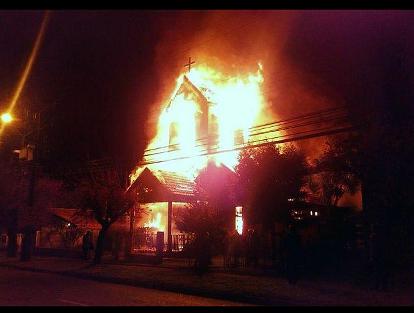 Nuevo incendio en un templo evangélico de la Araucanía