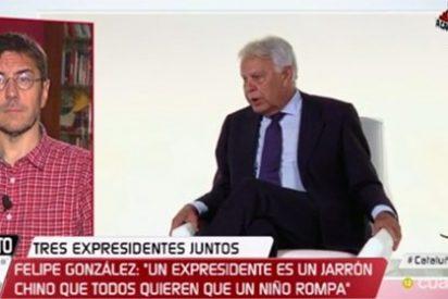 """Javier Ruiz 'olvida' ponerle el bozal a un Monedero que vomita bilis contra González: """"Es una caricatura decrépita"""""""