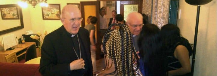 Osoro visitó una casa de acogida de supervivientes de la trata de mujeres