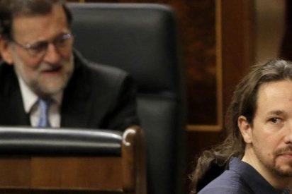 Mariano Rajoy pone al cursi de Pablo Iglesias a 'caer de un burro'