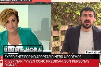 """Cristina Pardo le mete un zasca a Espinar por no querer hablar sobre Zapata: """"Siempre se queja usted de los temas"""""""