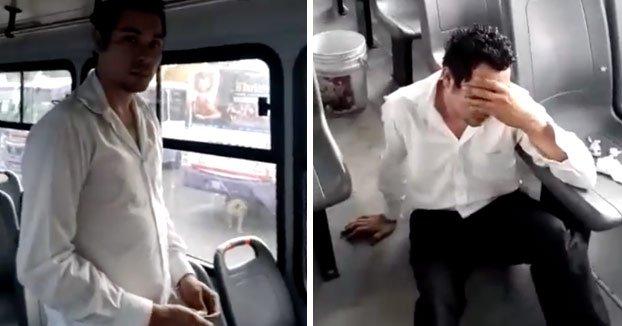 El tipo al que sorprenden fumando marihuana en el trabajo y simula un ataque epiléptico