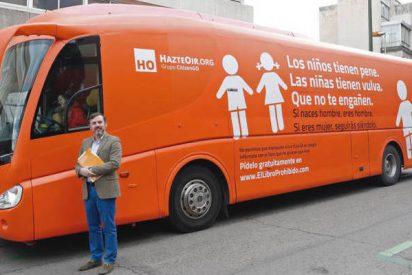 Los jueces de la Audiencia autorizan al autobús de HazteOír a circular por Madrid