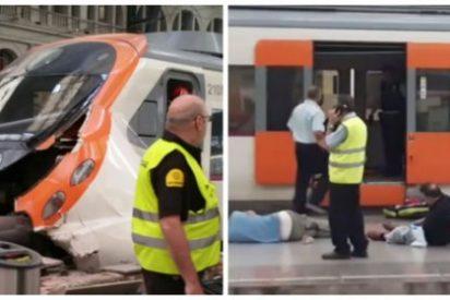 Cerca de 50 heridos en el choque de un tren en la estación barcelonesa de França