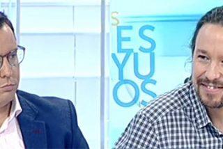 Sergio Martín se queda mudo mientras Iglesias se dedica a criticar a Televisión Española en sus narices