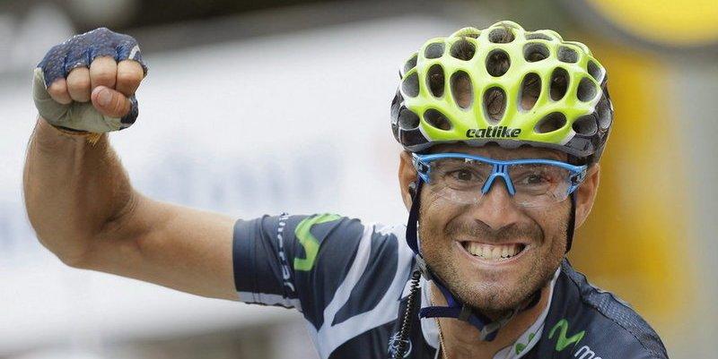 Alejandro Valverde sufre una tremenda caída en la contrarreloj y abandona el Tour de Francia