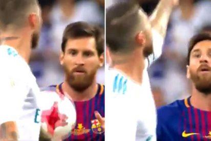 Sergio Ramos se cachondea de Messi y el mal perdedor argentino le menta 'la concha' de su madre