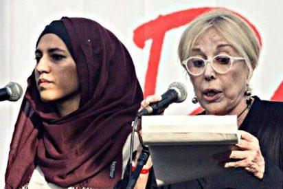 La 'pacifista' musulmana que leyó juntó a la independentista Sardá, aplaude las acusaciones al Rey